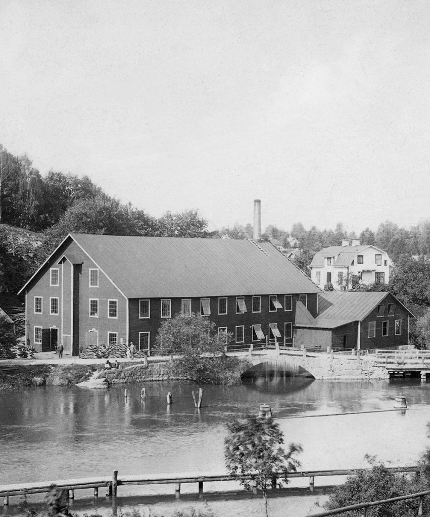 The first factory building at the waterfall