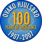 "Logga: ""Ovako Hjulsbro 100 years of excellence 1907-2007"""